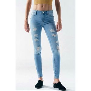 PacSun Mae Blue Perfect Fit Destroyed Jeggings 30